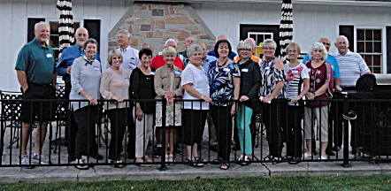 Front Row: Pam Douglas-Zepp, Judy Aldrich-Hodits, Joanne Gladieux-Luoma, Penny Rowland-Collins, Jane Hofbauer-Schnell, Judy Brown-Crouch, Mary Sue Dreier-Ostafi, Sharon Lalendorf-Toth, Karen Sue Ames-Kelly, Polly Cook-Schnell. Back Row: Gary Myers, Gary Calhoun, Dean Stroh, Eric Goodwin, Rod Reihing, Glen Tank, Denny Kelly, Don Kuebler, Ernie Molnar, Paul Hubaker.